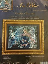 "Near North Treasures Cross Stitch Kit ""In Blue"" Angel Embellished Canada... - $21.53"