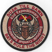 US Army Dusk Till Dawn 43D Expeditionary Combat SQN Patch 4.0'' x 4.0''   - $13.85