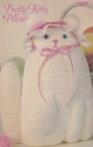 Pretty Kitty Cat Pillow, Annie's Attic Crochet Pattern Leaflet 87B58 - $4.95