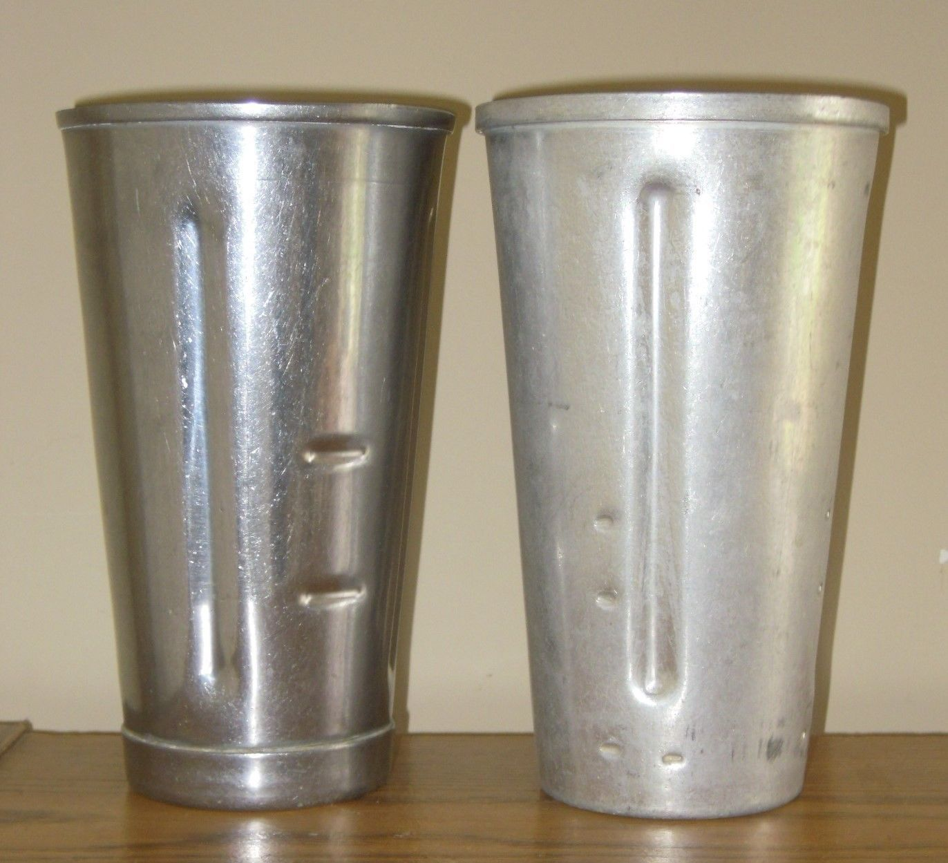 2 VINTAGE Wear Ever & Craft STAINLESS STEEL Aluminum  MILKSHAKE MIXER CUP - $12.99