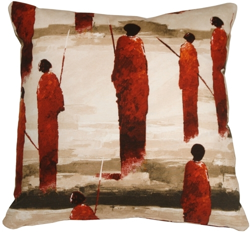 Primary image for Pillow Decor - Masai Warrior 22x22 Red Throw Pillow