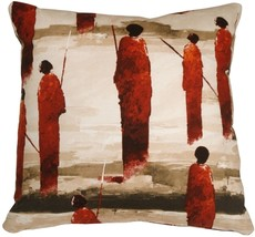 Pillow Decor - Masai Warrior 22x22 Red Throw Pillow - $79.95