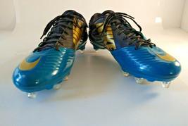 NIKE Vapor Speed XC Black Blue Football Cleats 668854-015  US 12.5 UK 11.5 EU 47 - $19.95
