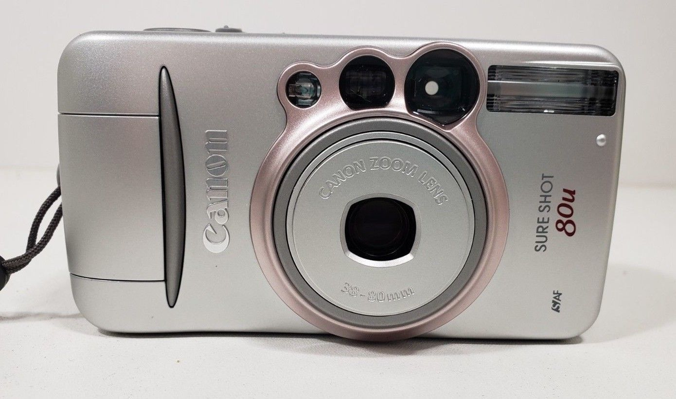 Canon Sure Shot 80U Film Camera with case image 2