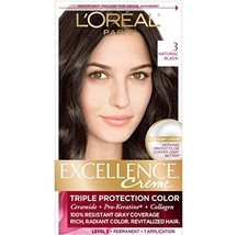 L'Oreal Paris Excellence Creme Permanent Hair (Pack of 1|3 Natural Black) - $17.93