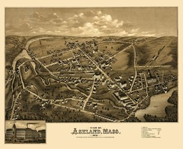 Ashland Massachusetts - Bailey 1878 - 23.00 x 28.16 - $36.58+