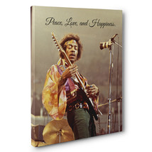 Jimi Hendrix Peace Love Happiness Motivation Quote Canvas Wall Art - $29.21