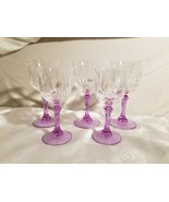 Cristal D'Arques-Durand Auteuil Lilas 3 Water 2 Wine Glasses Alexandrite... - $166.20