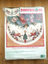 Dimensions Visions Of Christmas Tree Skirt Table Top Counted Cross Stitch Kit - $42.52