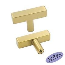 goldenwarm Brushed Brass Cabinet Knobs Gold Kitchen Hardware Pulls - LS1212GD Si