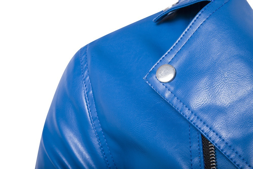 2018new autumn and winter high-end men's leather men's leather jacket, leather j