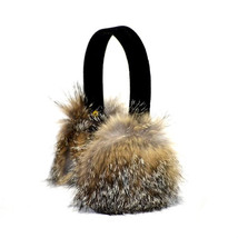 AuSable Fur Natural Grey Fox Earmuffs - $39.95