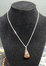 Vintage Raw Unpolished Baltic Amber Nugget With Sterling Silver Chain - $49.59