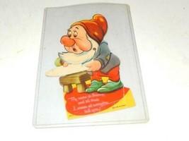 Vintage DISNEY- 1938 Cardboard Figure Of 'sneezy' - Good CONDITION- H70 - $10.28
