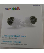 Munchkin Fits Shine 2 Replacement Bottle Brush Heads Reshine New in box - $9.89