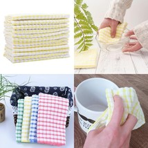 Kitchen Towels Bulk 100 Cotton Kitchen Dish-Cloths Scrubbing Dishcloths ... - $13.09