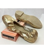 Body Wrappers Angelo Luzio Veena Gold Metallic Foldable Slippers, Womens... - $14.24