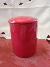 Ceramic Tea or Coffee Mug with Lid - 11oz - Red Omniware image 3