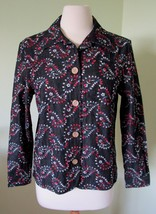 Women's Coldwater Creek Button Down Embroidered Denim Jean Paisley PM petite M - $13.99