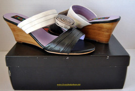 New! Everybody by B.Z. Moda Pantero Sandals Slides US 9.5, EU 41 Black W... - $89.09