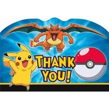 Pokemon Pikachu and Friends Charizard Birthday Party 8 Thank You Cards - $4.99
