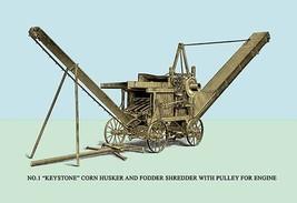 No. 1 'Keystone' Corn Husker and Fodder Shredder with Pulley for Engine - Art Pr - $19.99+