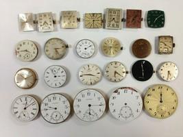 Lot Of 24 Vintage Wristwatch Movts. WALTHAM HAMILTON LONGINES BULOVA TIS... - $350.00