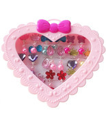 Elesa Miracle 28pcs Children Kids Little Girl Shiny Clip-on Earrings. - £14.12 GBP