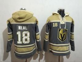 Classic Vegas Golden Knights 18 James Neal Ice Hoodies Hockey Jersey Gra... - $89.98