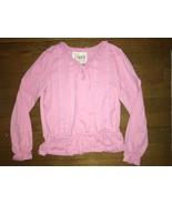 ! childrens place pink ruffle lace top tee shirt size medium 7 - 8 girls - $3.96