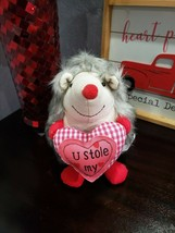"Valentines Day Hedgehog U STOLE MY HEART Shelf Sitter Doll Decor 8"" - $19.99"