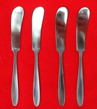 "4X Small Butter Knives Spreader Englishtown ENS2 Stainless Glossy Flatware 6"" - $33.66"