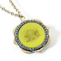 Princess Vera Wang Gold Tone Crystal Frog Pendant Necklace - $16.99