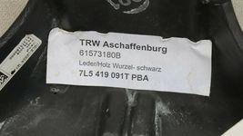 03-06 Porsche Cayenne 955 Wood/ Blk Leather 3 Spoke Steering Wheel 7L5419091 image 6