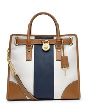 MICHAEL Michael Kors Large Hamilton Striped Canvas Tote Handbag - $289.10