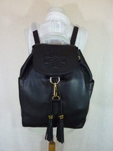 NWT Tory Burch Black Leather Thea Large Backpack $495 - $490.05
