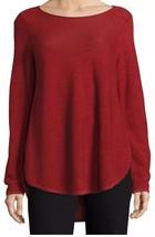 Eileen Fisher Boatneck Woolen Pullover USA Red Sz XS - $85.13