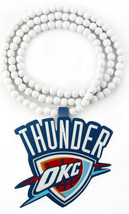 NBA Oklahoma Thunder Kevin Durant Wooden Wood Pendant Beaded Hip Hop Nec... - $5.89