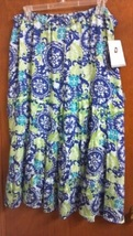 New with Tags Plus Size XXL; Jaclyn Smith 35 inch long Blue-Green Floral... - $27.00