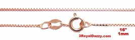 "Italian Rose gold layered over .925 sterling silver - 1 mm box chain -16 "" - $10.35"