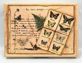 "NEW Page about Butterflies by Stamps Happen 90240 Background Rubber Stamp 4x5.5"" - $10.99"