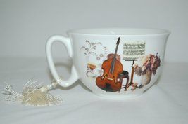Aim Gifts Music Upright Bass Saxophone Cup and Saucer Set Comes in Gift Box image 3