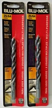 "Blu-Mol 6650 25/64"" High Speed Drill Bit 2PKS - $4.95"
