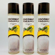 3-Pack Bath Body Works Coconut Pineapple Fine Fragrance Mist Spray 8 Fl.Oz - $39.55