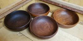 Rare MCM Set of 4 Genuine Bangkok Teak Bowls  Bröderna Kjellström Silva ... - $69.29