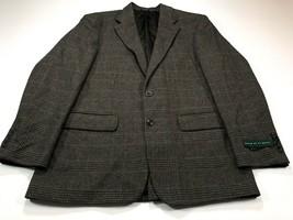 Oscar De La Renta 40R Brown Wool Camel Hair 2Btn Jacket Sport Coat Blaze... - $59.99