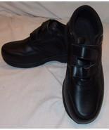 Propet Life Walker Mens Shoes Black 8 1/2 X 3E EEE Style M3705 Wide - $47.23