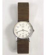 Vintage Timex Easy Reader Quartz Men's Wristwatch Round White Face Retro... - $29.99