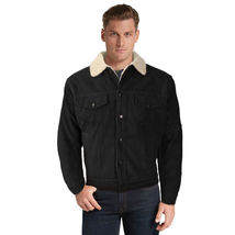 Men's Premium Classic Button Up Fur Lined Corduroy Sherpa Trucker Jacket image 3