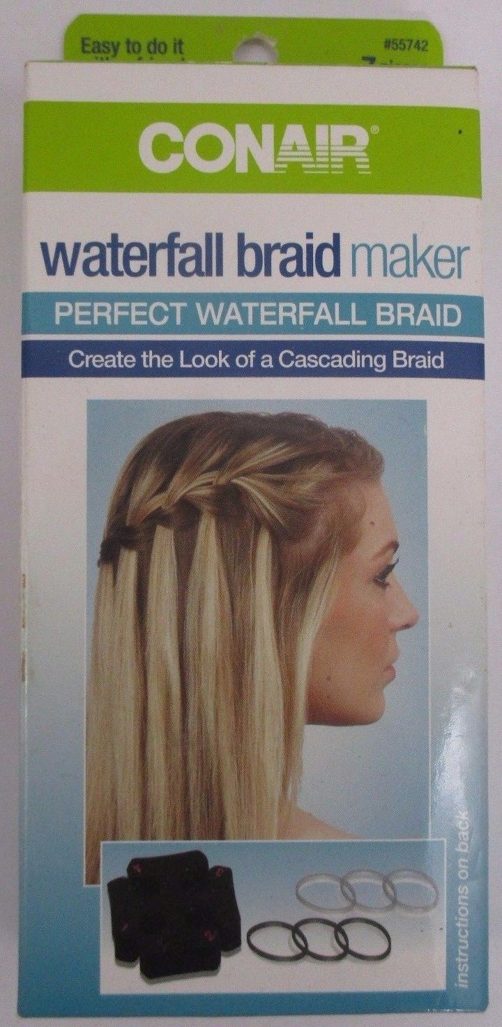 Conair Hair Waterfall Braid Maker Create Look Cascading New Sealed